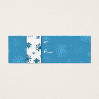 Merry Christmas Blue White Snowflakes Gift Tags