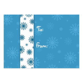 Merry Christmas Blue White Snowflakes Gift Tags Pack Of Chubby Business Cards