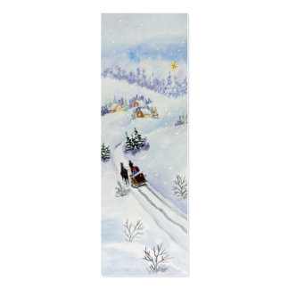 Merry Christmas Bookmark Pack Of Skinny Business Cards