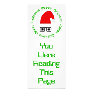 Merry Christmas Bookmark Template Personalized Rack Card