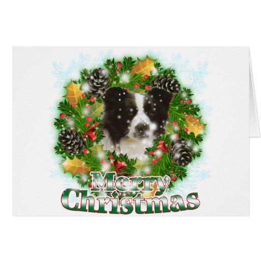 Merry Christmas Border Collie Card