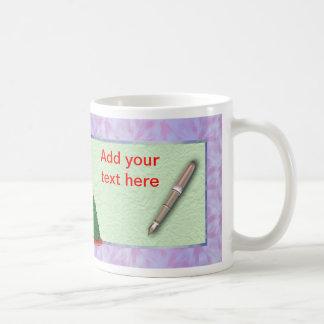 Merry Christmas Boss or Teacher Christmas with pen Basic White Mug