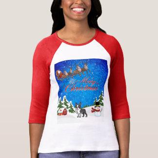 Merry Christmas Boston Terrier T-Shirt