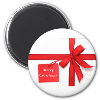 Merry Christmas Bow Button Refrigerator Magnets