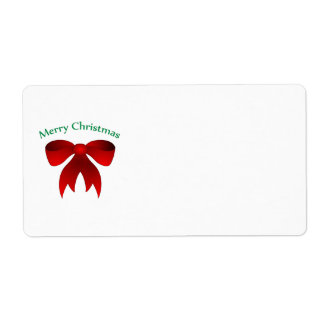 Merry Christmas bow labels