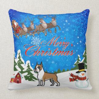 Merry Christmas Boxer Cushion