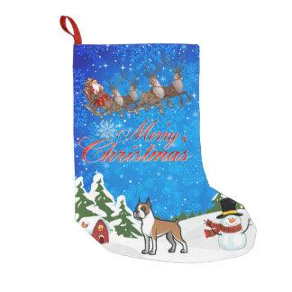 Merry Christmas Boxer Small Christmas Stocking