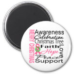 Merry Christmas Breast Cancer Ribbon Collage