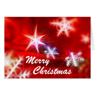Merry Christmas Bright Snowflakes Card