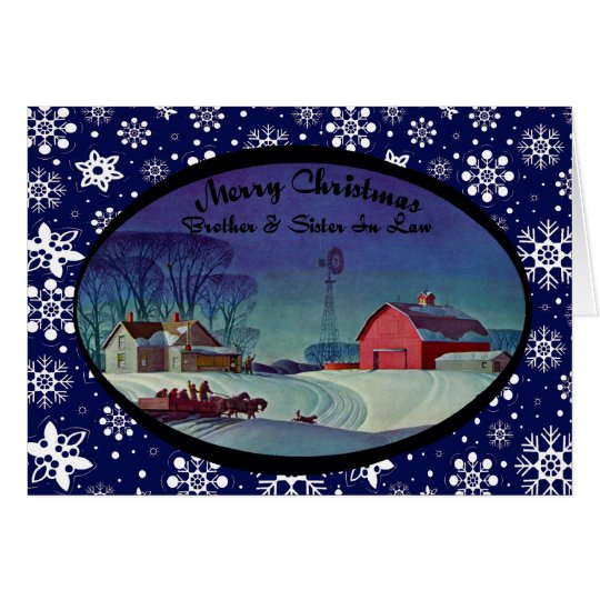 Merry Christmas Brother & Sister In Law Card