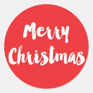 Merry Christmas Brush Lettered Sticker