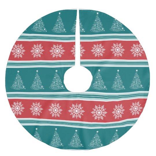 Merry Christmas Brushed Polyester Tree Skirt