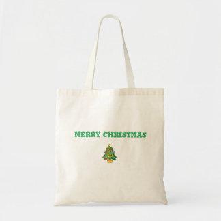 MERRY CHRISTMAS BUDGET TOTE