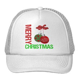 Merry Christmas Bulb Ribbon Ornanment Cap