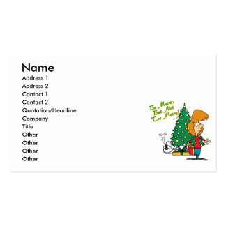 merry christmas but not too merry funny cartoon business card template