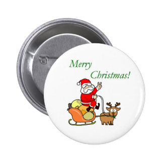 Merry Christmas - Button 2 Inch Round Button