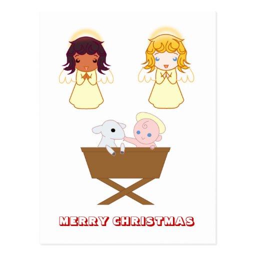 Merry Christmas,  by Nekoni,  Nativity scene Post Cards