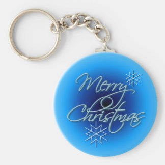 MERRY CHRISTMAS by SHARON SHARPE Key Ring