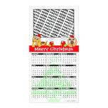 Merry Christmas Calendar 2011 Photo Card Doggie