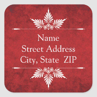 Merry Christmas Calligraphy Return Address Labels