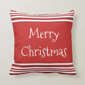 Merry Christmas Candy Cane Festive Pillows