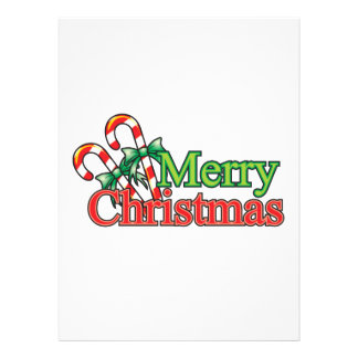 Merry Christmas Candy Cane Custom Announcement