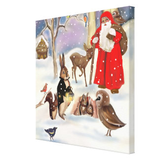 Merry Christmas Stretched Canvas Prints