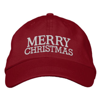Merry Christmas Cap by SRF Embroidered Baseball Cap