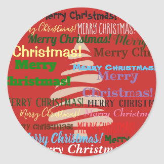 Merry Christmas Card! Classic Round Sticker