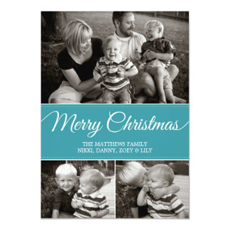 Merry Christmas Card | Flat | Blue