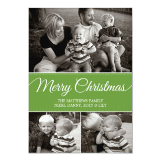 Merry Christmas Card | Flat | Green