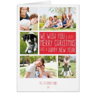 Merry Christmas card - photo collage template