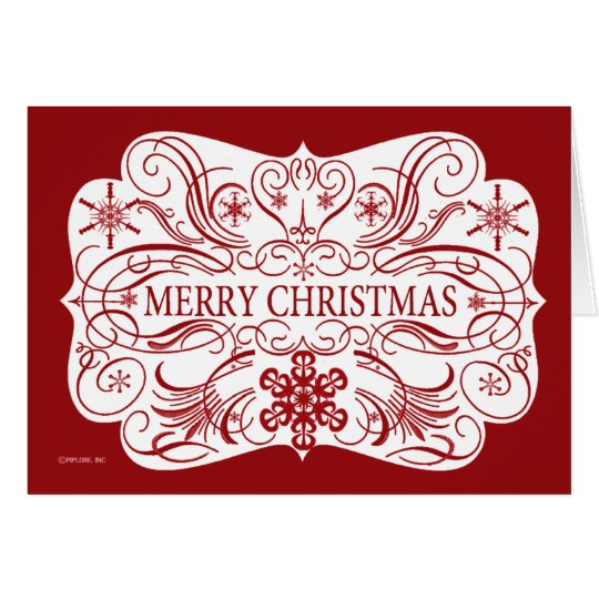Merry Christmas Card red