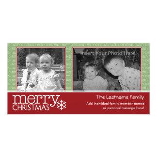 Merry Christmas card with 2 photos