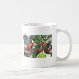 Merry Christmas Cardinal Coffee Mugs