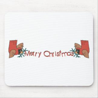 Merry Christmas Cardinals Mousepads