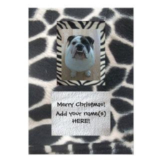 Merry Christmas cards English bulldog