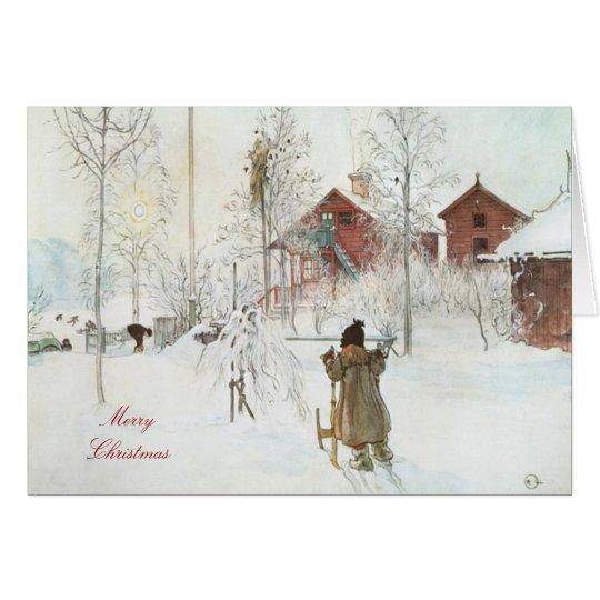 Merry Christmas  Carl Larsson Art Card