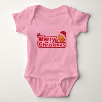 Merry Christmas cartoon baby bird Infant Creeper