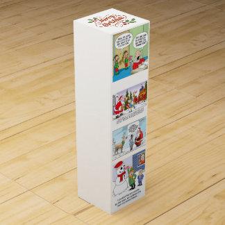 Merry Christmas Cartoon Humor Wine Gift Box