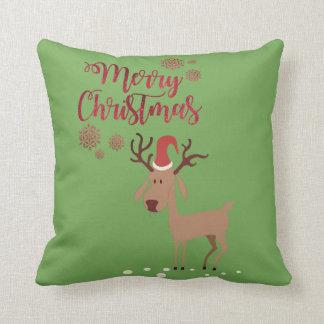 Merry Christmas,Cartoon Reindeer Cushion