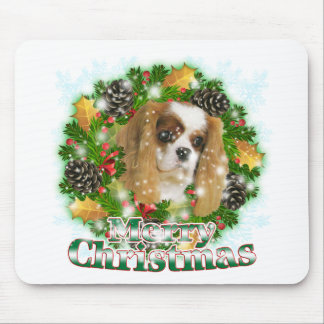 Merry Christmas Cavalier Mouse Mat