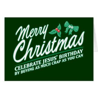 Merry Christmas - Celebrate Jesus Birthday Greeting Card