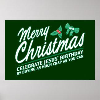Merry Christmas - Celebrate Jesus Birthday Print