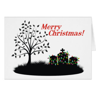 Merry Christmas!  - Cemetery Lights Greeting Card