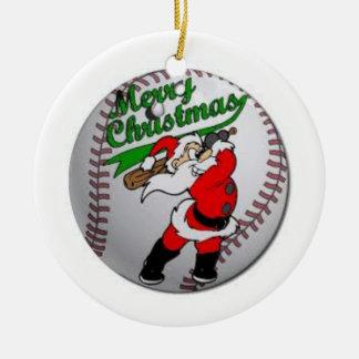 Merry Christmas Ceramic Ball Ornament