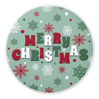 Merry Christmas Ceramic Knob