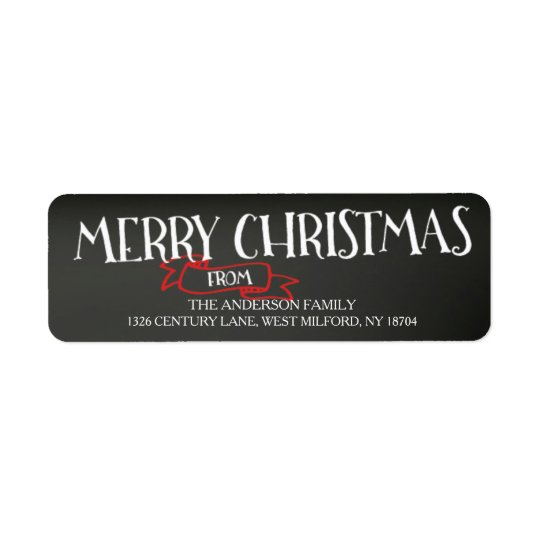 Merry Christmas Chalkboard Address Labels