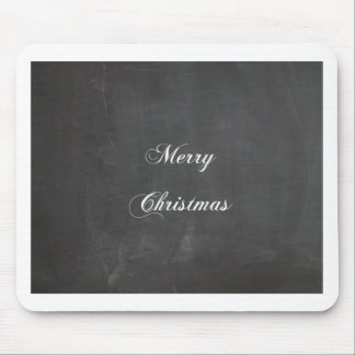 Merry Christmas Chalkboard Mouse Pads