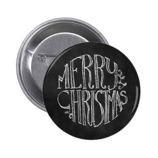 Merry Christmas Chalkboard Typography Button